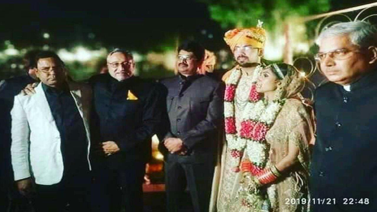 Raja Bhaiya at Aditi Singh Mairrage