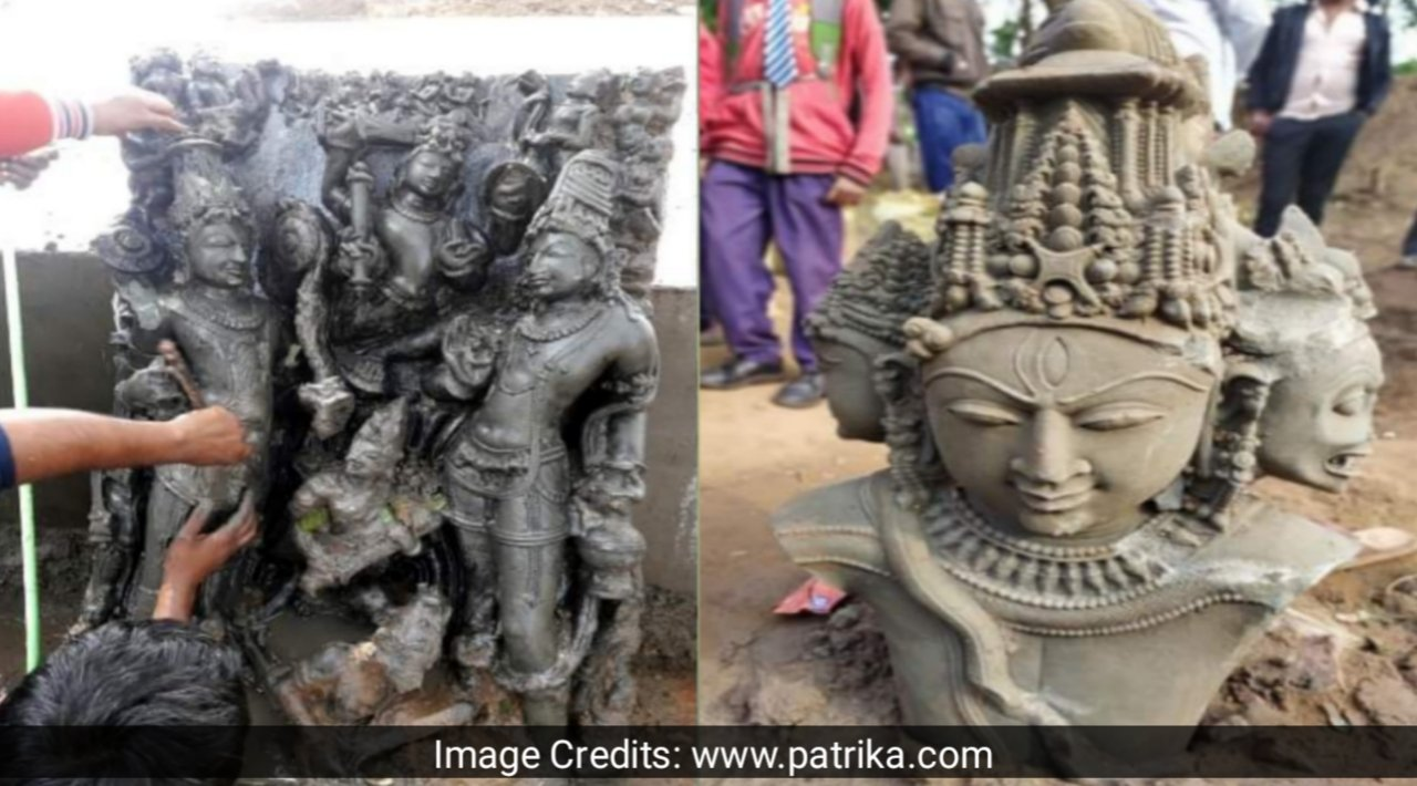 Hindu God Ancient Statue Found in Jabalpur