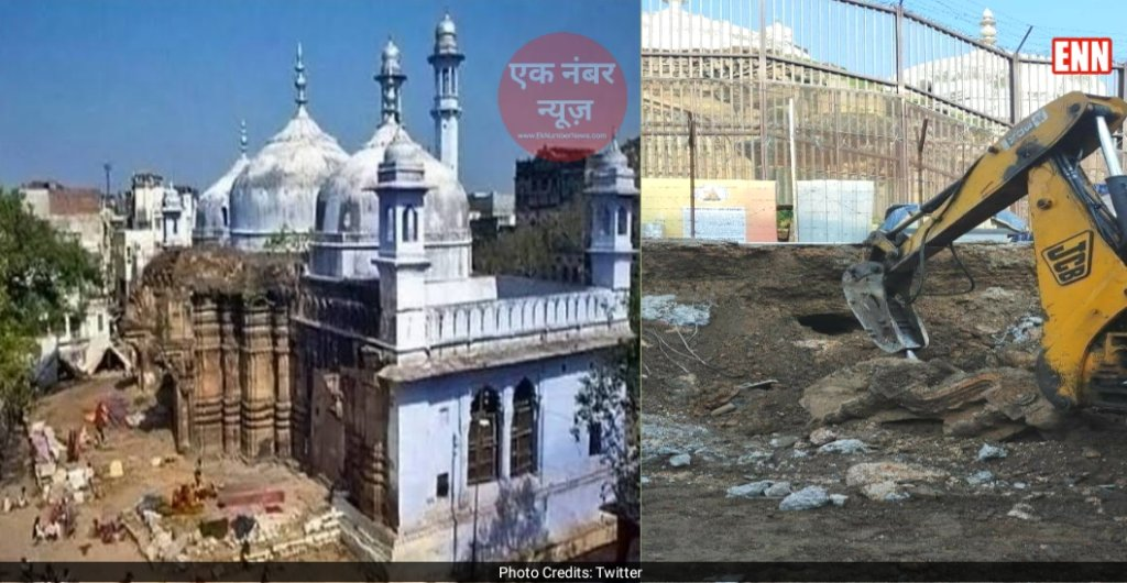 Kashi Gyanvapi Masjit Temple Ruins