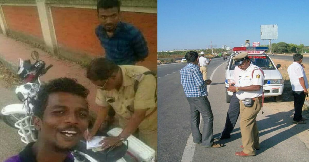 traffic police cant take mobile news